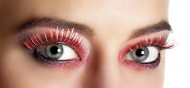 Falsche, rot-silbernen Wimpern