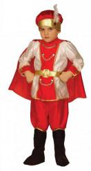 Mittelalterliches Schnee-Prinzen Kostüm für Jungen