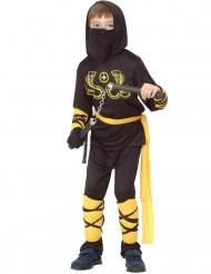 Ninja-Kostüm Gelb für Jungen