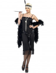Stilvolles Charleston-Kostüm für Damen schwarz