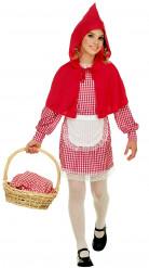 Rotkäppchen-Märchen-Kostüm für Mädchen rot-weiss