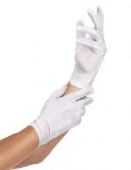 Kurze Handschuhe weiß für Erwachsene