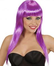 Glamouröse, violette Perücke für Damen