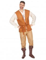 Mittelalterliches Bauern-Kostüm für Herren