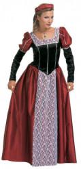 Mittelalterliches  Prinzessinnen-Kostüm für Damen