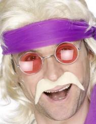 Blonder 70er Jahre-Schnurrbart für Erwachsene