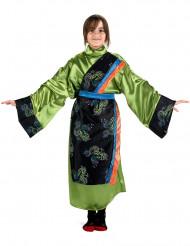 Mädchenkostüm Japanerin in Grün