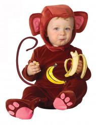 Affen-Kostüm für Babys aus Samt dunkelbraun