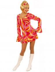 Disco-Kostüm rot für Damen