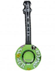 Aufblasbares Hippie Banjo Gitarre