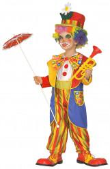 Verrücktes Clownkostüm für Jungen bunt