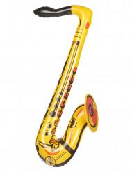Aufblasbares Saxophon gelb