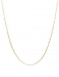 Weiße Perlenkette 90 cm Charleston