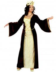 Mittelalterliches Prinzessinnen-Kostüm für Damen rot-goldfarben-weiss