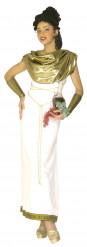 Griechische Göttin Kostüm für Damen weiss-goldfarben