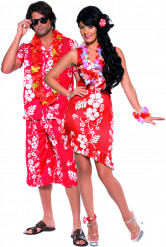 Hawaii-Paarkostüm für Erwachsene