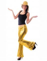 Gold Disco-Hose für Damen