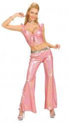 Rosa Disco-Hose für Damen