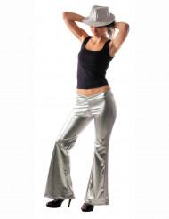 Silber Disco-Hose für Damen