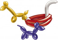 Modellier-Ballons mit Pumpe