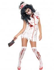 Zombiekrankenschwester-Kostüm für Damen Halloween