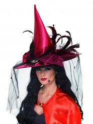 Luxuriöser Hexenhut für Erwachsene zu Halloween