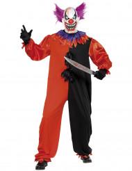 schauerliches Clowns-Kostüm Halloween für Erwachsene