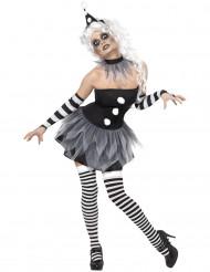 Sexy Pierrot-Kostüm Halloween für Damen
