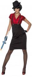 Luxuriöses Gangster-Kostüm für Damen