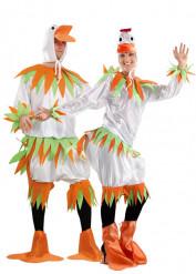 Weißes Enten-Paarkostüm für Erwachsene