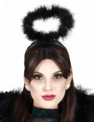 Schwarzer Heiligenscheinhaarreif für Erwachsene zu Halloween