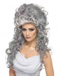 Gräfinnen-Damenperücke grau