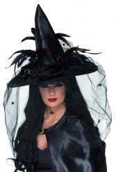 Halloween-Luxushexenhut für Erwachsene