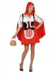Rotkäppchen-Märchenkostüm für Damen schwarz-weiss-rot