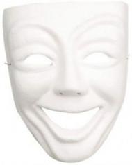 Weiße Maske lächelnd