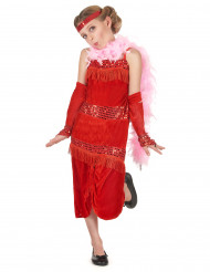 Mädchenkostüm Charleston-Tänzerin in Rot