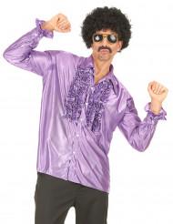 Diskohemd violett für Herren