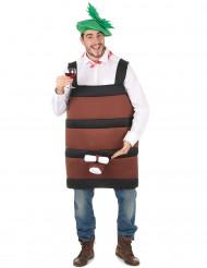 Witziges Weinfass-Kostüm für Herren braun