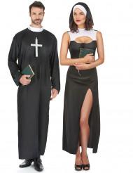 Nonnen-/ Priesterkostüm für Paare