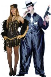 Charlestontänzerin-/ Gangsterkostüm für Paare