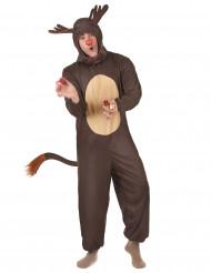 Rentier-Weihnachts-Kostüm für Herren beige-braun
