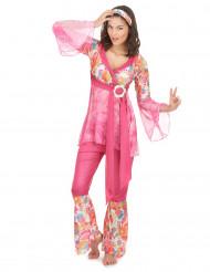 Hippiekostüm für Damen pink
