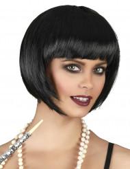 Kurzhaar-Bob-Perücke für Damen schwarz