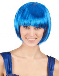 Damenkurzhaarperücke blau