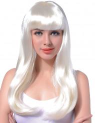 Damenlanghaarperücke weiß