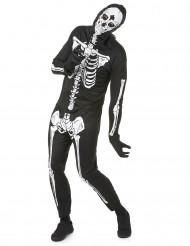 Skelett-Horrorkostüm für Herren schwarz-weiss