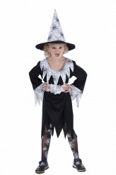 Hexen-Kostüm weiß Halloween für Mädchen