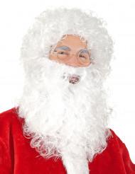 Weihnachtsmann-Set für Herren (Perücke und Bart)