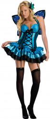 Sexy blaues Feenkostüm für Damen