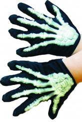 Halloween-Skeletthandschuhe für Kinder